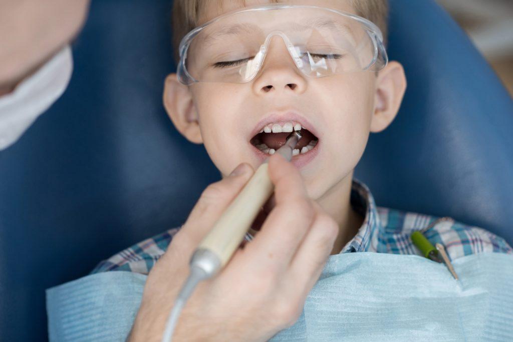 Cute Little Boy in Dental Clinic